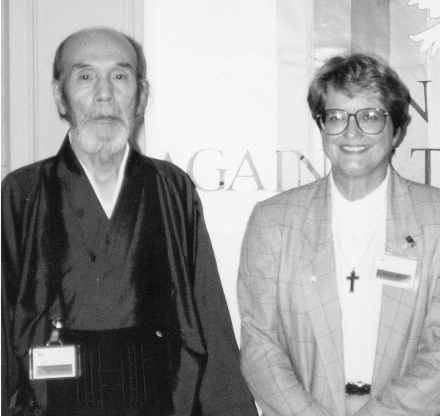 古川泰龍氏とシスター・ヘレン・プレジャン氏