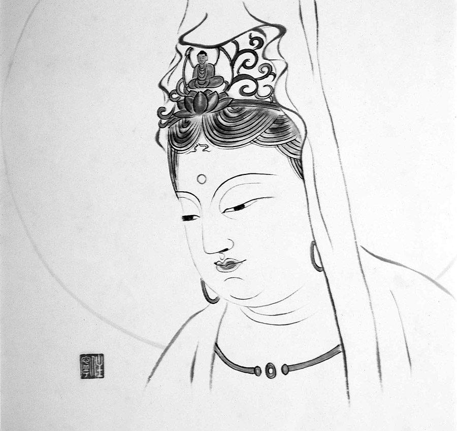西氏が描いた仏画