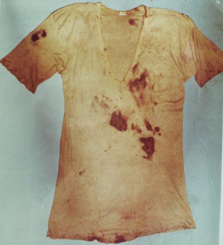 「5点の衣類」の半袖シャツ。